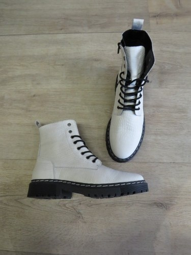 Bottines en cuir croco